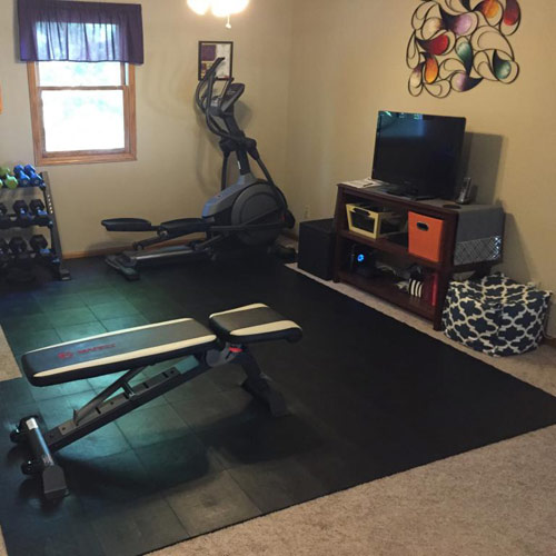 Staylock Tile Home Gym Flooring Over Carpet