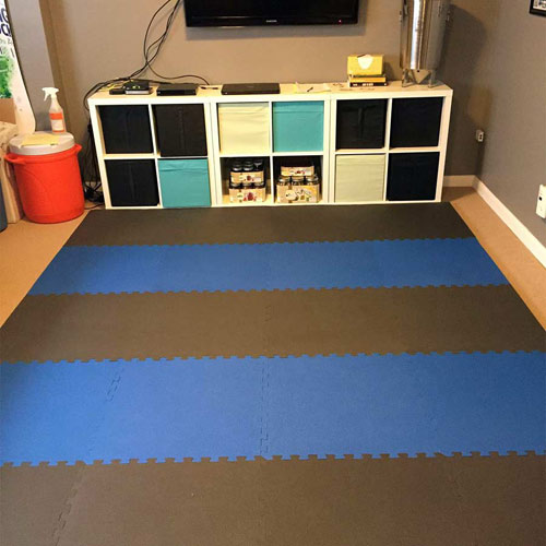 Home Exercise And Play Mat 7 8 Inch Black Blue